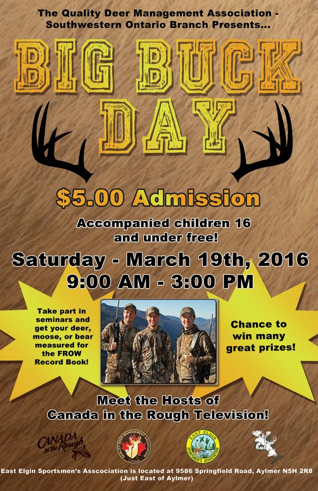 big buck day mar 19 2016 poster