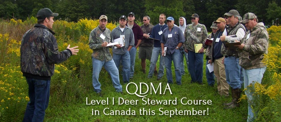 First Ever QDMA Level I Deer Steward Course in Canada